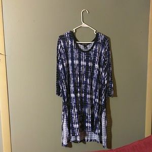 New direction ladies short sleeve blouse
